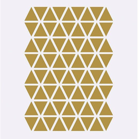 ferm LIVING Mini Triangles Wall Stickers - Brass Brass