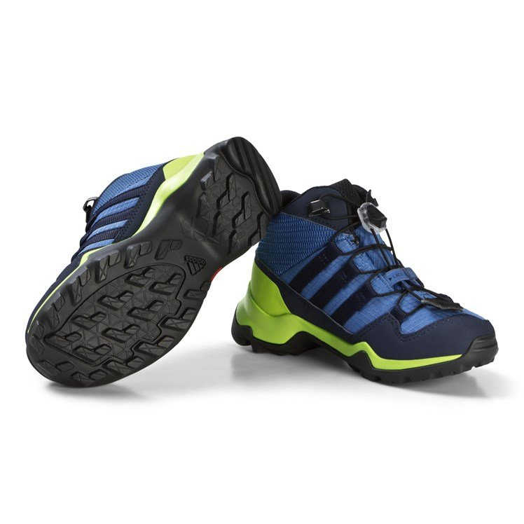 adidas Performance Blue and Green Terrex Mid Gortex Hiking