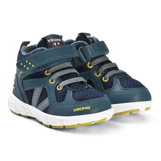 Viking Alvdal Mid R Gtx Denim/Lime Shoes Denim/Lime