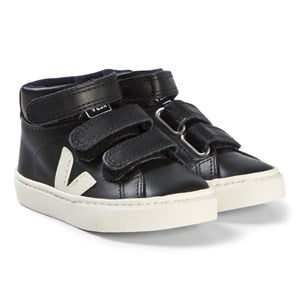 Image of Veja Esplar Mid Small Velcro Leather sko Black Pierre Rouille 22 EU (3065513695)
