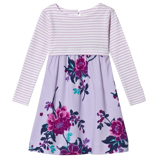 Tom Joule Lilac Layla Stripe and Floral Dress LILAC CHINOISE FLORAL