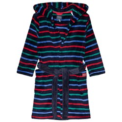 Tom Joule Navy Roban Stripe Hooded Robe
