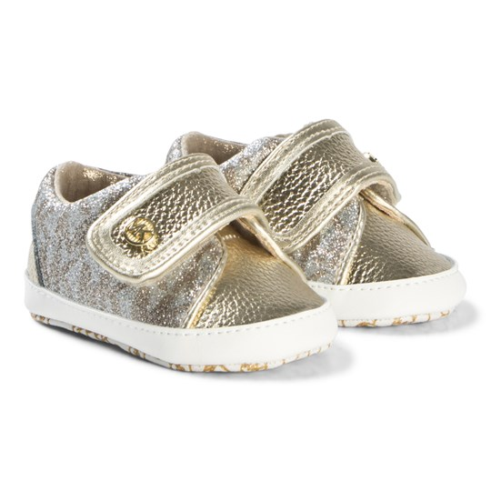 Michael Kors Gold and Sliver Baby Skip Shoes GOLDSILVER