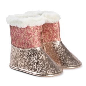 Image of Michael Kors Rose Gold Baby Boots 18 (UK 2) (1146748)