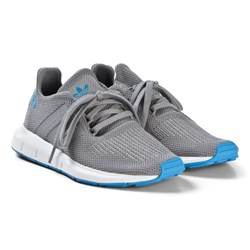 adidas Originals Grey & Blue Swift Run Sneakers