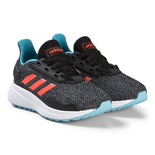 adidas Performance Black, Blue and Red Duramo 9 Running Sneakers core black/solar red/GREY FOUR F17