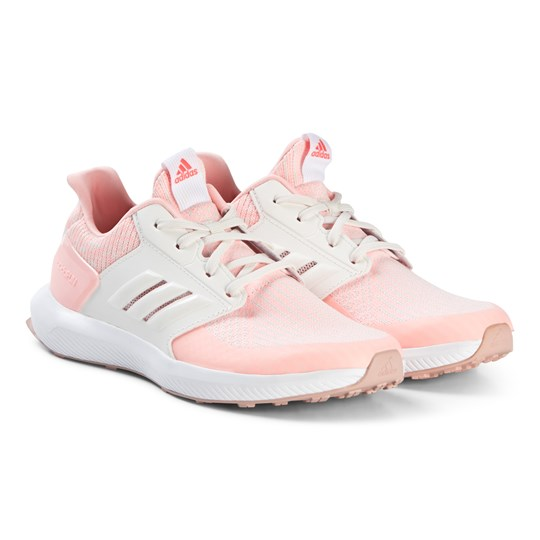 adidas Performance Pink Knit RapidRun Sneakers clear orange/cloud white/ASH PEARL S18