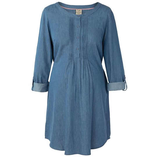 Frugi Blue Denim Pintuck Tunic Dress Denim