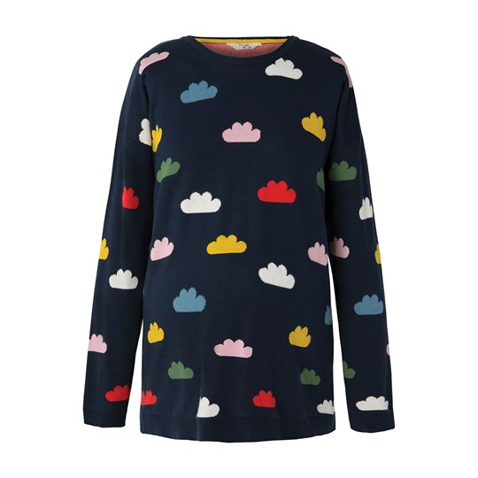 Frugi Navy Cloud Emily Sweater Multi Cloud