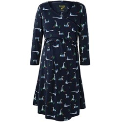 Frugi Navy Geese Twist Front Dress