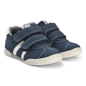 Image of Noël Blue Suede Velcro Wendy B Trainers 24 (UK 7) (3065537561)