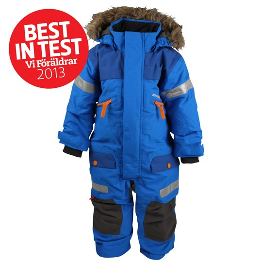 Didriksons Theron Kids Coverall Br. Blue Blue