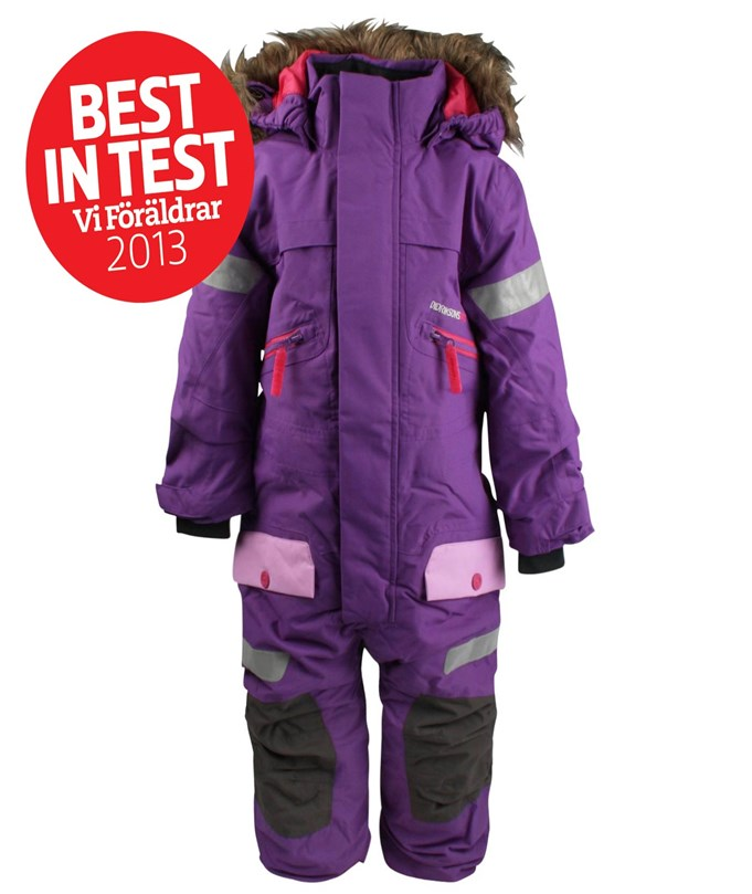 Didriksons Theron Kids Coverall D Purple Purple