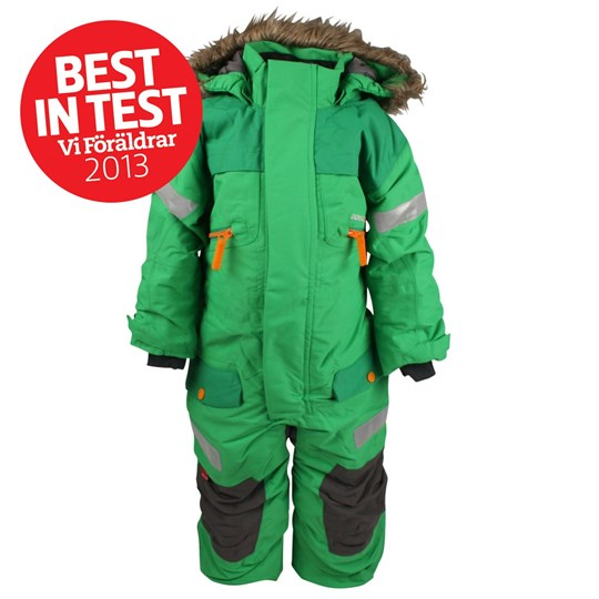 Didriksons Theron Kids Coverall Myrtle Green