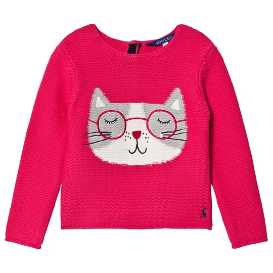 Tom Joule Pink Winnie Knitted Cat Sweater DEEP PINK CAT