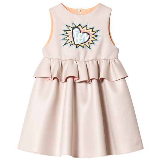 Fendi Heart Tiered Klänning Pale Pink F0TX3
