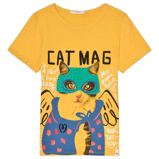 Billybandit Yellow Superhero Cat Tee 527