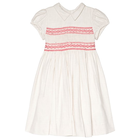 Bonpoint Beige and Pink Smock Dress 108