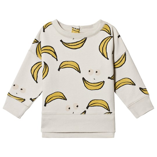 nadadelazos Banana Faces Oversized Sweatshirt Light Grey Light Grey
