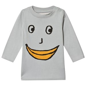 Image of nadadelazos Banana Face T-Shirt Spoon Grey 8 år (3065584101)