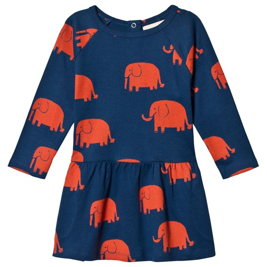 nadadelazos Sweatshirt Dress Elephants Wax Print Blue Wax Print Blue