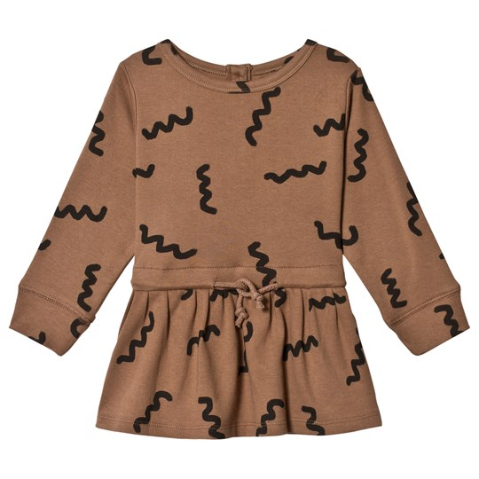 nadadelazos Worms Dress Ape Brown Ape Brown