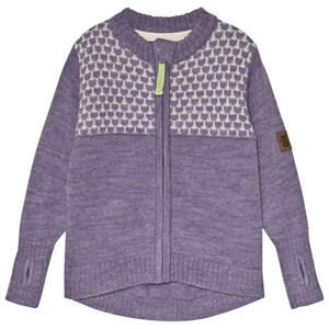 Image of Kattnakken Wool Mid Layer Jacket Purple 122 cm (6-7 år) (3065572493)