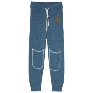 Image of Kattnakken Wool Mid Layer Pants Blue 104 cm (3-4 år) (3065572539)