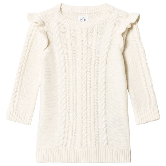 GAP Ivory Frost Cable Sweater Dress IVORY FROST