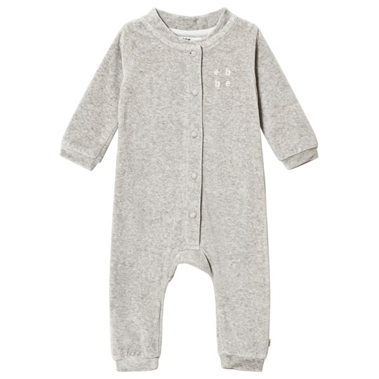 ebbe Kids Jelvina Velvet One-Piece Soft Grey Melange Soft Grey Melange
