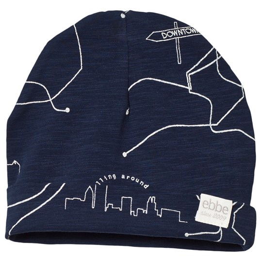 ebbe Kids Slatan Beanie Navy Blue Cities Navy Blue Cities