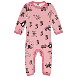 Småfolk Pink Landscape Baby One-Piece