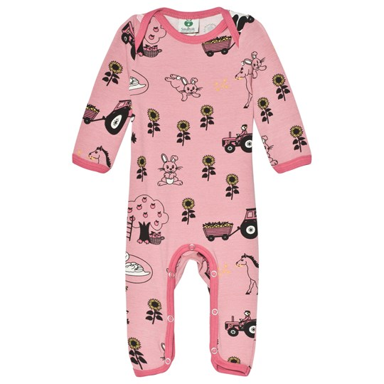 Småfolk Pink Landscape Baby One-Piece Blush