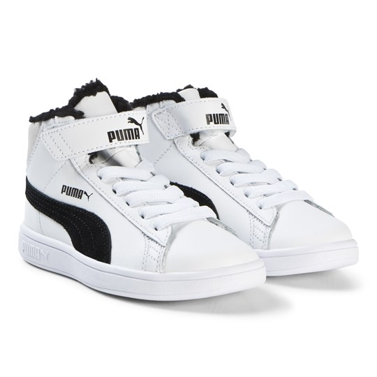 Puma - White Smash v2 Mid Fur Kids Sneakers - Babyshop.com 8bc652c10