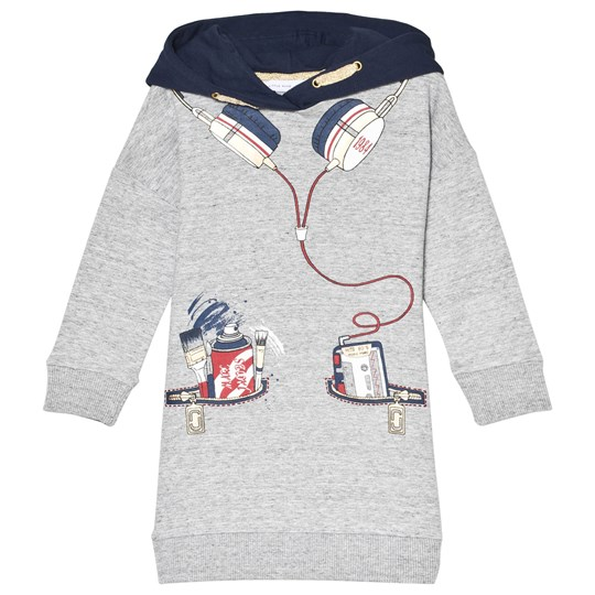 The Marc Jacobs Grey Hooded Sweatshirt Dress with Headphones Illustration A35