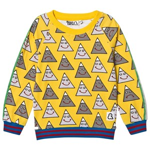 Image of Boys & Girls Happy Mountain Crew Top Yellow 1-2 years (3125272729)
