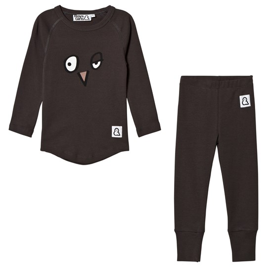 Boys & Girls Sleepy Face Pajamas Black Black
