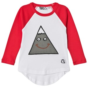Image of Boys & Girls Moody Mountain Raglan Tee White/Red 1-2 years (3065517627)