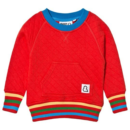 Boys & Girls Quilted Crew Sweatshirt Red Red