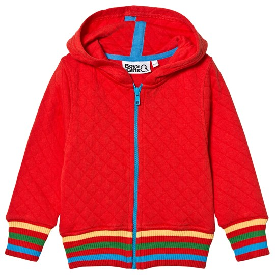 Boys & Girls Quilted Zip Jacket Red Punainen
