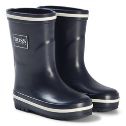 BOSS Navy Branded Welly Boots
