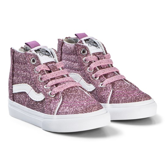 2bfbac2ff449 Vans - Pink Glitter Infants SK8 Zip High Tops - Babyshop.com