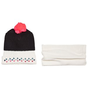 Image of Billieblush Blue and White Jewelled Hat and Scarf Set T1 (2-5 years) (3065519075)