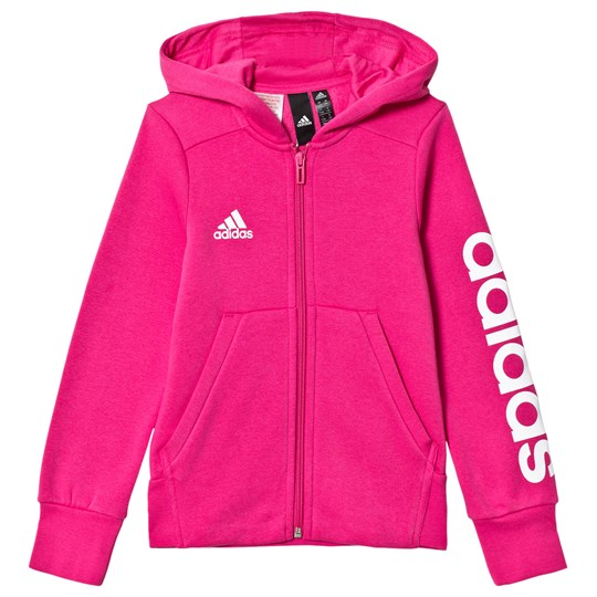 adidas Performance Hot Pink Branded Hoodie real magenta/white
