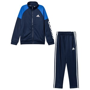 Image of adidas Performance Navy Branded Linear Tracksuit 11-12 years (152 cm) (3065521911)