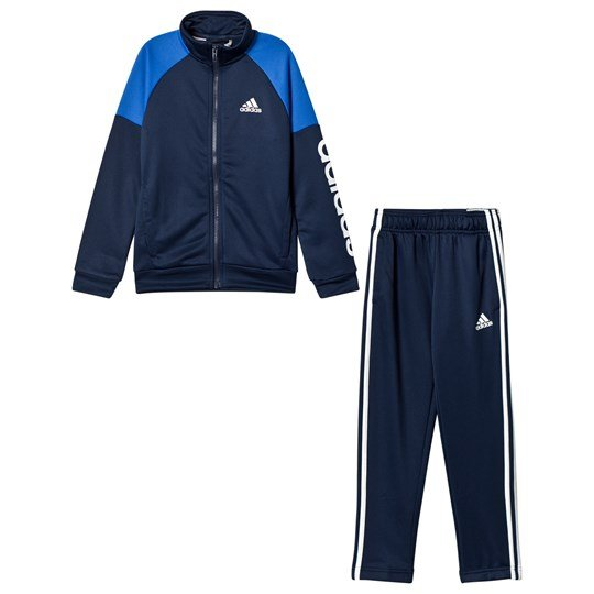 adidas Performance Navy Branded Linear Tracksuit Top:collegiate navy/blue/white Bottom:COLLEGIATE N