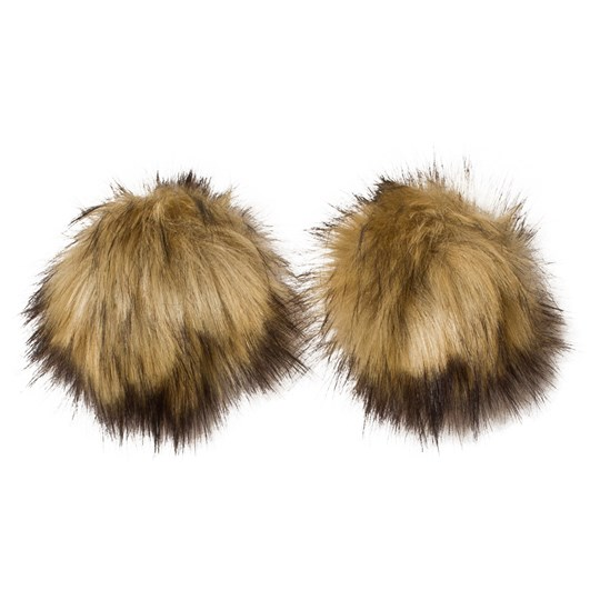 MP Fake Fur Pom Pom 2-Pack Natur Natur