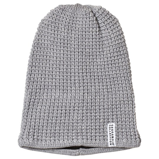 Geggamoja Grey Knitted Beanie Sort