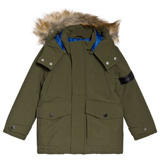 Diesel Khaki Padded Parka with Branded Sleeve K59A