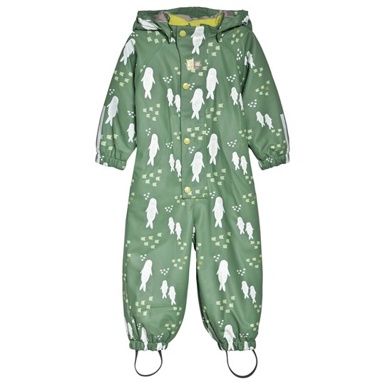 Kattnakken Ocean Winter Rain Suit Green Grønn